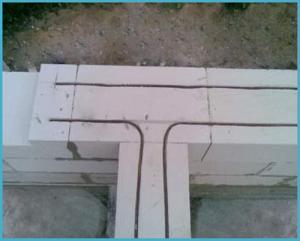 Армирование газобетона стальной арматурой