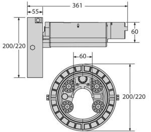 Конструкция кинематики внутривального привода