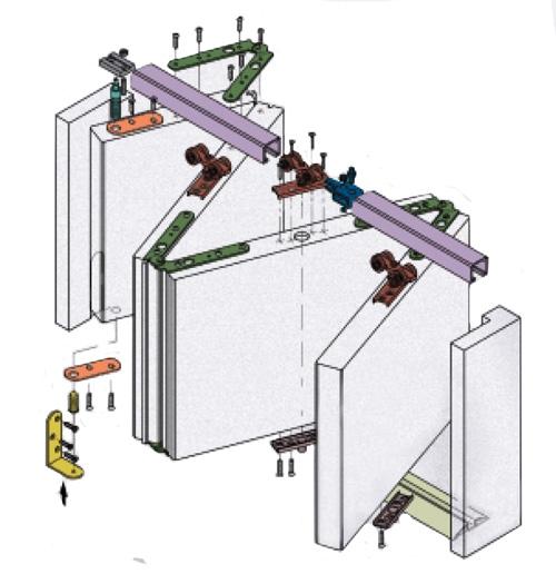 Схема промышленной гармошки