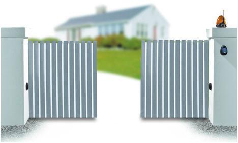 Ворота с двумя створками.