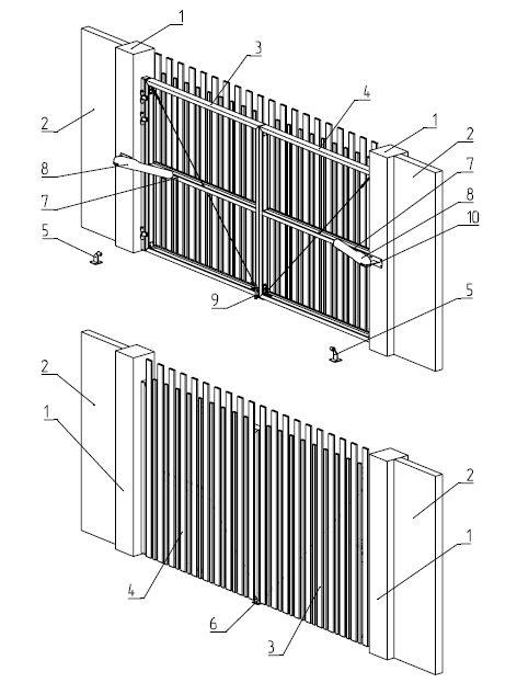 Схема ворот.