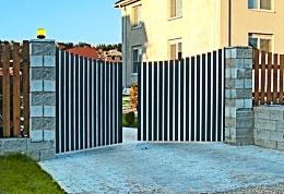Внешний вид распашных ворот