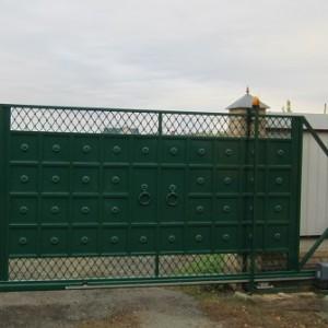 Откатные двухсторонние ворота.
