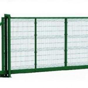 Откатные ворота из сетки.