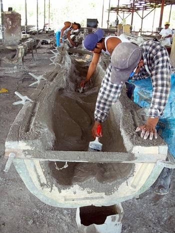 Армирование стекловолокном элементов декора с газоблоками.