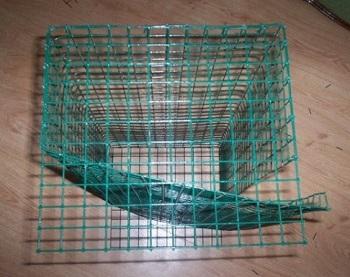 Заготовки для клетки из сварной сетки с покрытием ПВХ.