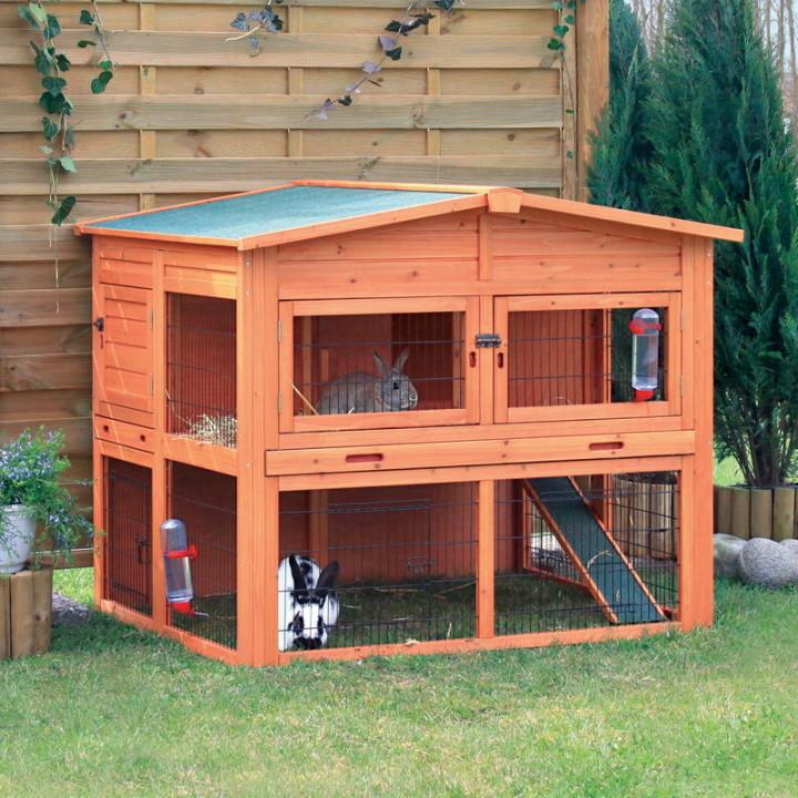 Двухэтажный «кроличий домик».