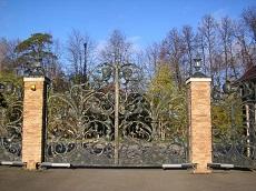 «Прозрачные» распашные ворота.