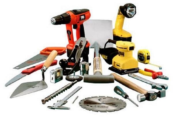 Инструменты, необходимые для строительства подъёмных ворот.