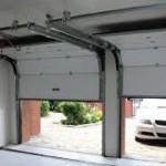Внешний вид подъёмно-секционных гаражных ворот.